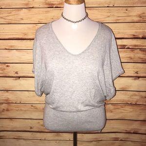 Express Soft Gray Dolman Short Sleeve Sweater